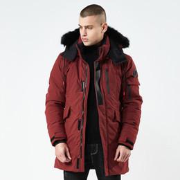 Herren Designer Daunenmantel Luxus Abzeichen Muster der Männer Marken lange Jacken Winter warmes Outdoor Skianzüge für Paare 2020 neuen 2 Farben