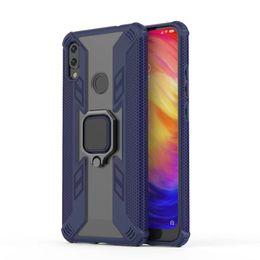 coffret métallique redmi note Promotion De luxe Armor Ring Case Pour Xiaomi Mi 9T 8 8Lite Housse Pour Redmi Note 7 7 s Anti-Chute Bord Souple Antichoc Full Back Case