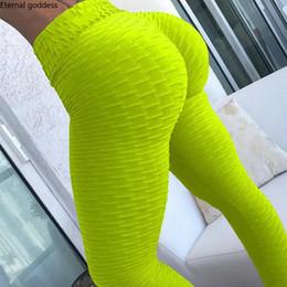 Pantaloni di yoga di esercizio bianco online-10 colori donne Hot Yoga Pants Leggings sportivi bianchi Push Up Tights Gym Exercise Fitness a vita alta in esecuzione atletica pantaloni