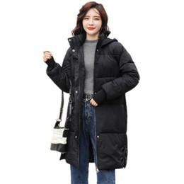 Nouvel hiver pour femmes dames coton lâche jeune oreille de lapin chapeau longue veste en coton casual parcs pour les femmes long manteau chaud ? partir de fabricateur