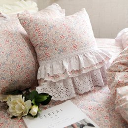 кружевные наволочки Скидка Лучшие роскошные Европы Чехлы рябить кружева наволочка красоты торт слои принцессы постельные принадлежности наволочки декоративные подушки