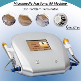 Máquina de mesoterapia portátil online-Equipo de belleza de radiofrecuencia fraccional micro aguja mesoterapia led photon derma rodillo portátil máquina de rf uso en el hogar
