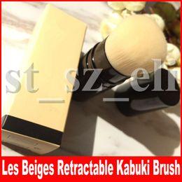 Maquiagem sombra pacote on-line-Famosa ferramenta de Maquiagem Rosto Les Beiges RETRACTABLE Kabuki escova com Caixa de Pacote Beleza blush sombra Cosméticos Pincéis de Maquiagem