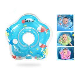 Argentina Piscina y accesorios para bebés Anillo para nadar Anillo anti-atras inflable Anillo de cuello con doble globo Ajuste de engrosamiento supplier double balloons Suministro