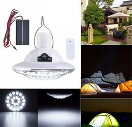 2020 luces de camping 12v Cubierta de control remoto Jardín Iluminación de emergencia lámpara solar 22 LED de alimentación portátil USB Bulbos solares LED recargable luz del campo de luces de camping 12v baratos