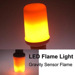 Luce della fiamma halloween online-E27 LED Flame Light Effect Fire Light Lampadine Flickering Emulation Ligt 3 Modalità LED Fire Flame Lamp per Halloween Decorazioni natalizie