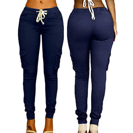 2019 gelbe jogginghosen männer Frauen Multi-Bag Hosen Kordelzug Krawatte Casual Hosen Sommer Modetrend Volltonfarbe Candy High Waist Female Pants L548