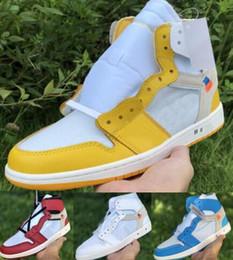 мужчины желтые корзины кроссовки Скидка Баскетбольные кроссовки 1 1s Кроссовки Мужчины Женщины High OG 2019 New Off Nrg UNC Чикаго Прайм Желтый Des Chaussures Корзина Дизайнерская обувь для тренеров