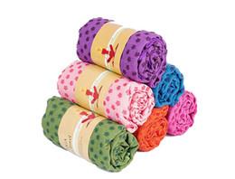 Asciugamano della stuoia di yoga della stuoia di yoga di Microfiber nessun asciugamano della stuoia di slittamento con la borsa della maglia di trasporto Asciugamano altamente assorbente della palestra di Microfiber da stuoia di yoga trasportare sacchetto fornitori