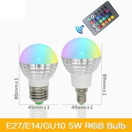 E27 E14 16 couleurs changeantes RGB Magic 3W LED ampoule de projecteur 85-265V 110V 220V Led Light Spotlight + Télécommande IR ? partir de fabricateur
