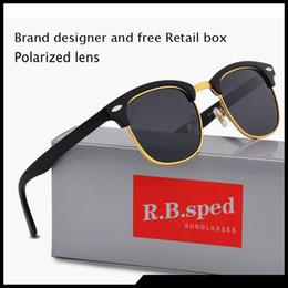 fahrer kostenlos Rabatt Hochwertige marke sonnenbrille für männer frauen klassische mode polarisierte sonnenbrille fahrerbrille retro brillen mit kostenlosen braunen fällen und box
