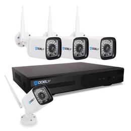 cctv sistemas dome exterior Desconto Hodely 8CH 1080P NVR Wifi Set 720P 3,6 milímetro 36 LED impermeável Câmera IP Plug EUA