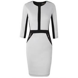 2019 Nuevo estilo caliente tendencia de moda caliente vestido de las mujeres mil aves decoración de la cremallera que adelgaza el bolso de la nalga vestido profesional desde fabricantes