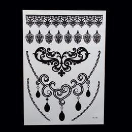 5b3e1b883b947 1pcs Hot New Black Henna Tattoo Fake Lace Flash Arabic Indian Mandala Totem  For Bride Art Body Painting Hand Arm
