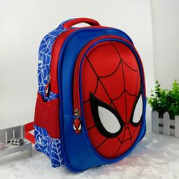 Bolsas para niños más frescas online-2018 3d Cartoon Spiderman Niños School Bag Estudiantes Mochila Impermeable Kids Cool Travel 20-35l Kindergarten Bolsa de Regalo Del Niño J190427