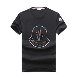 Diseño de la camiseta del polo online-2019 Marca M diseño Manga corta Camisetas hombre 5088W Francia Moda estilo casual Otoño invierno algodón Polos tops Cuello redondo tees