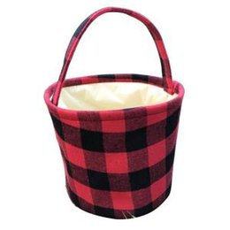2019 cestas de tecido de páscoa Cesta de Páscoa Xadrez Balde De Páscoa Artesanal de Cesta De Armazenamento Reversível Cesta Sacos De Doces Crianças Bolsas Saco De Piquenique Manta Organizador Do Carro GGA1649 cestas de tecido de páscoa barato