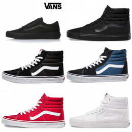 262fa4868 2019 VANS Old Skool SK8-Hi Skateboard Classic White Black zapatillas de  deporte Women Men Canvas Casual Skate Shoes Mens Trainers Sneakers