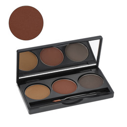 palette nature Promo Codes - W2905 Professional 3 Colors Eyebrow Powder Shadow Palette Eyeliner Powder Nature Coffee & Brown Color Cosmetic Tool Makeup Kit with Brush &