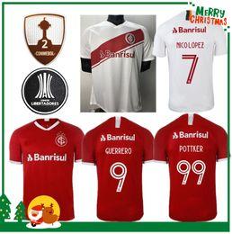 d9de5ac7d7 2019 Internacional de futebol em casa Jersey vermelho Brasil Camisa de  Futebol 19 20 Damião Silva D Alessandro adulto homem mulher camisa de  futebol
