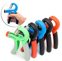 Tipos de ferramentas elétricas on-line-Hot R Tipo Gripper Inteligente Contando Apertos de Mão Ajustável Dedo Aperto Trainer Exercitador Pulso Muscular Ferramenta De Treinamento De Poder 10-60 kg