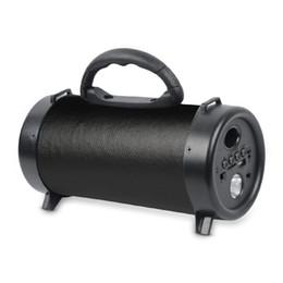 Привод огни онлайн-M42 Bluetooth Динамик Цилиндр Портативный Светодиод FM Аудио Аккумуляторная TF Карта USB Flash Drive