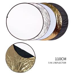 2019 dslr kamera schulter rig unterstützung 5 in 1 Runden Reflektor Flash Silber Gold Großhandel Tragbare Faltbarer Reflektor für Studio Multi Foto Disc Diffusoren