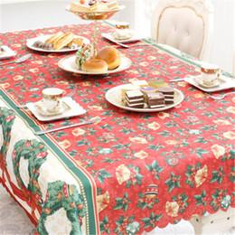 toalhas de linho de natal Desconto Ano novo Natal Toalha de Mesa de Linho À Prova de Poeira Tampa Da Mesa X-mas Toalha de Mesa de Jantar Em Casa Decoração Do Partido Pano De Linho DHL FJ407