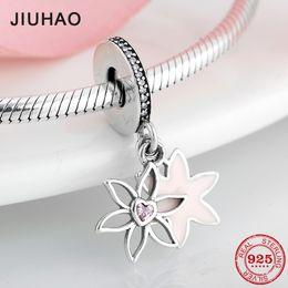 bab3b34d9eef joyas de junio Rebajas 925 de plata esterlina flor de junio rosa corazón CZ  encantos para