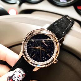 Moda Cool Multi Faceted Glass Star Relojes para Mujeres Personalizado Cristales Internos Reloj de Colores de Caramelo de Piel de Cuero reloj de pulsera desde fabricantes