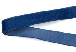 Guarnição tecida on-line-Tecido fita poliéster Jacquard Fita com decoração de veludo azul Bordado webbing guarnição 19mm Largura S82502-19 frete grátis 3000 m personalizado
