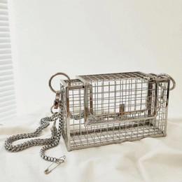 модные сумочки bird Скидка INS выдалбливают клатч птичья клетка женская сумочка большая металлическая клетка для девочек сумки с верхней ручкой кошелек модная вечерняя сумка вечерняя сумка