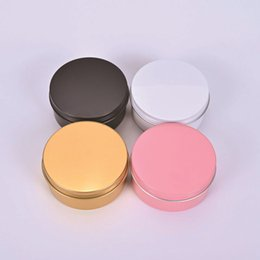 5 oz 150ml de aluminio de la lata del casquillo redondo tarros Almacenamiento Can cosméticos contenedor de metal Latas de envase vacío 150ml de oro negro blanco desde fabricantes