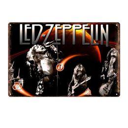Pinturas led online-30 * 20cm banda de rock Tin Signs 61 diseños Led Zeppelin estaño metal Pintura Pintura Cafetería Bar de la pared decorativos de chapa 30 Piezas de DHL