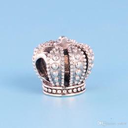 Deutschland NEUE Klassische 925 Sterling Silber Crown Charm Set Original Box für Pandora DIY Armband Europäischen Perlen Charms Schmuck zubehör Versorgung