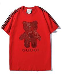 fe72575537 2019 New Tee red Bear foglie di cotone lettera stampa manica corta T-shirt  uomo e donna t shirt usura casual t-shirt S-XXL orso di camicia rossa  economici