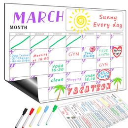 Geladeira Magnética Wall Art Sticker Calendário Planejador Semanal Semanal Quadro Branco Apagar para Cozinha 10 pcs de Fornecedores de caixa do portátil