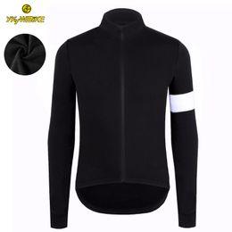 Invierno de la chaqueta de ciclismo online-YKYWBIKE Thermal Fleece Winter Cycling Jersey Custom manga larga de alta calidad de la chaqueta de la bicicleta Ciclismo Ropa Pro Team Zipper Pocket