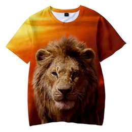 Boys lion king shirt en Ligne-The Lion King Kid's t shirt Boys Girls 2020 Hot Fashion Summer Soft Comfortable Kids T shirt 3D Print Lion King Children T-shirt