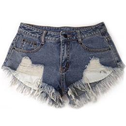 высокая талия короткие джинсы девушка Скидка Short Femme 2019 Lady Denim Women Fitness Jeans Shorts High Waist Summer Women Hole Booty Hot Shorts For Girls
