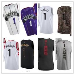 15296b4351af Custom 2019 Toronto Raptor Jerseys   1 Mcgrady Jerseys hombres   MUJER    JUVENTUD   Hombres Camiseta de béisbol Camiseta de baloncesto majestuosa