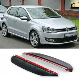 autocollants miroir côté Promotion Pour VW POLO 2009 2010 2011 2012 2013 2014 2015 2015 2pcs ABS rétroviseur de voiture pluie sourcil côté couverture brillante autocollants