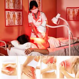 Masaje de calor infrarrojo online-El dolor de la piel 275W infrarrojos cuerpo Terapia de masaje de infrarrojos terapia doble lámpara de calefacción ligero alivio de dolor de músculo fisioterapia Kit