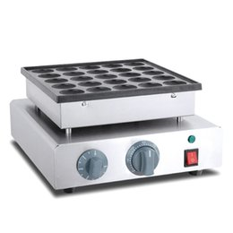 Elétrico grill placa on-line-O ENVIO GRATUITO de Antiaderente Elétrica Mini Poffertjes Grill Máquina Máquina de Waffle Poffertjes Holandesa Máquina Panquecas Baker Placa Fabricante
