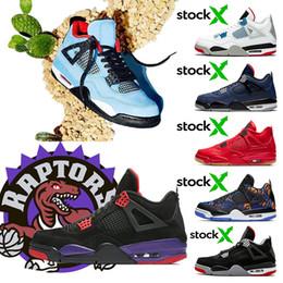 X tomas online-IV 4s Travis Scott x 4s HOUSTON Cactus Jack Raptors zapatos de baloncesto 4s Pure Money Royalty Black Cat mens Zapatillas de deporte al aire libre zapatillas deportivas sneakers Zapatillas de balonces