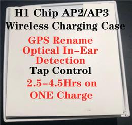 2019 sunglass musik kopfhörer H1-Chip Wireless-Charging Generation 2 Bluetooth-Kopfhörer Auto Pairing-Kopfhörer mit Pop-up-Fenster pk AP2 i19s i12 i100 i200 i7 TWS