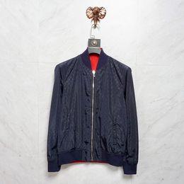 Impresión de doble cara ropa online-Italia Chaquetas de diseñador para hombre Impresión de alta calidad Apliques streetwear ropa de diseñador para hombre Chaqueta de lujo ropa de diseñador Ropa de doble cara