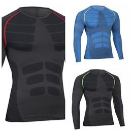 Bodybuilding anzüge online-Motion Long Sleeves Sportswear Komfortable Bardian Bodybuilding Schnell Trocknend Eng Anliegender Mann Neues Muster Für Laufsport Anzug 31 9hsH1