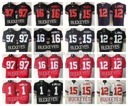 cardale jones jersey Rabatt 2015 Ohio State Buckeyes College Football Trikot Herren 97 Joey Bosa 15 Ezekiel Elliott 16 J.T Barrett 12 Cardale Jones 1 Braxton Miller Hemden