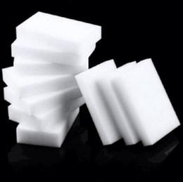 2019 limpiadores de esponja Magia Esponja Borrador Limpiador para Coche Cocina Baño Limpieza Esponja Accesorio de Limpieza de Platos 10x6x2cm KKA6878